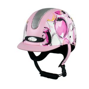 Paardrijcap QHP Premium Rider Roze