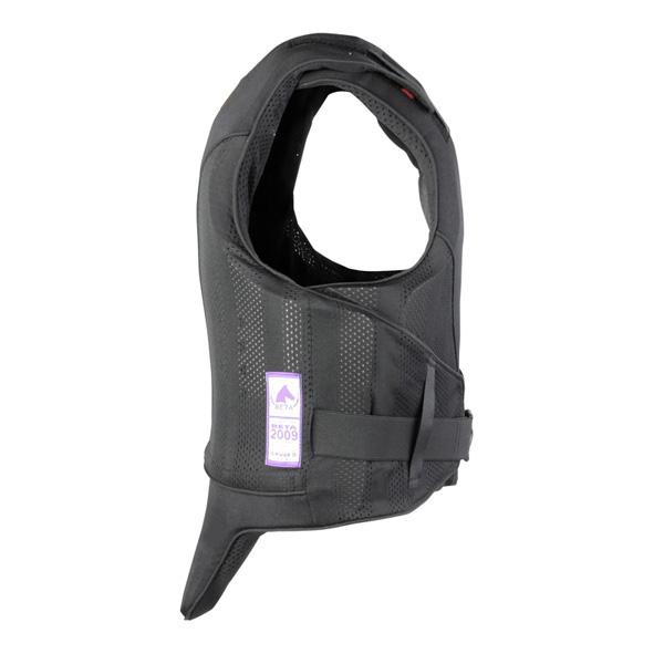 De zijkant van de Reiver Kind bodyprotector van Airowear voor paardrijden.