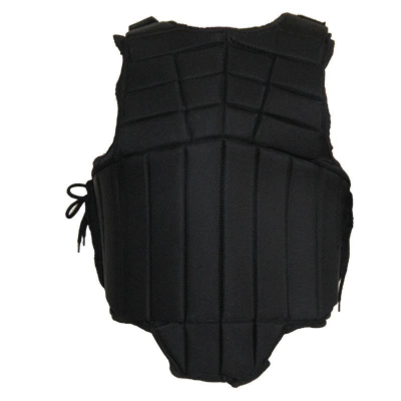 Dit is de HB Bodyprotector Joselyn Flex Kind Zwart Achterkant