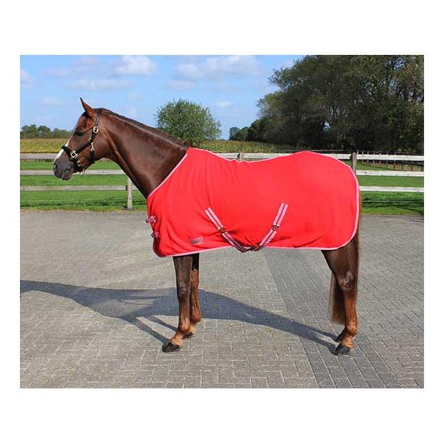 Deken Fleece Color Met Singels Fel Rood qhp-6121-ro