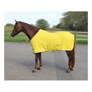 Deken Fleece Color Met Singels Geel qhp-6121-ge