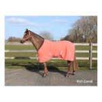 Deken Fleece Color Met Singels Hot Coral qhp-6121-hotcoral
