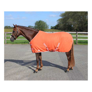 Deken Fleece Color Met Singels Oranje qhp-6121-or