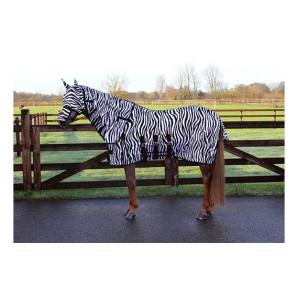 Deken Vliegen Nek+Hoed Zebra qhp-6013-ze