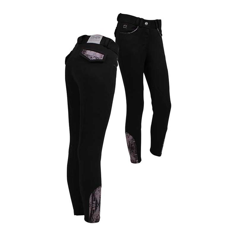 Rijbroek Junior Jeans Zwart qhp-8056-zw