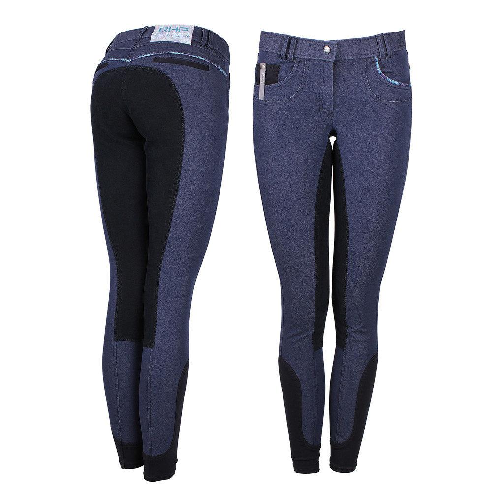 Rijbroek Tayler Kunstlederen Zitvlak Jeans qhp-8066-jeans