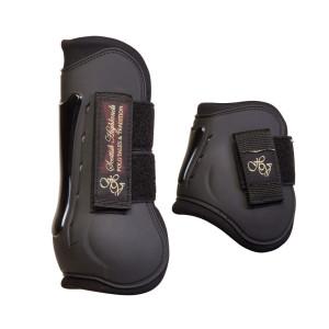 Peesbeschermerset Nessa Black 2802092702-BLACK-Fetlock-Tendon