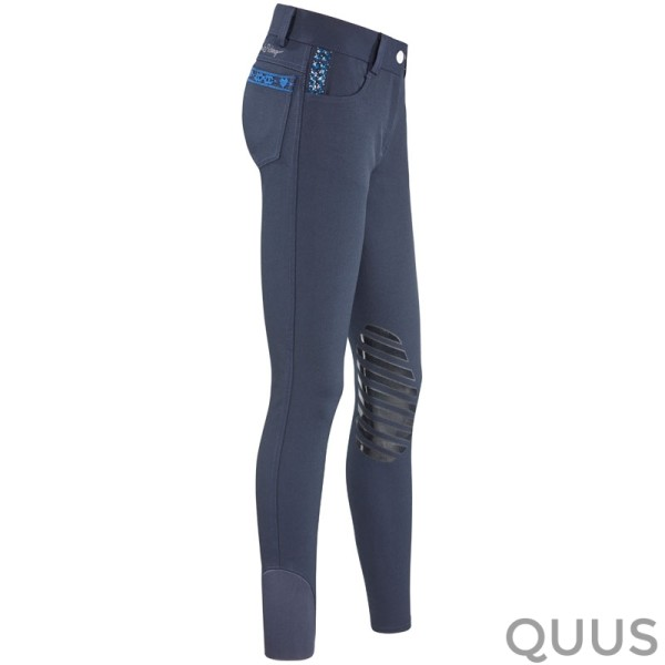 Rijbroek All Into Lily Silicon Kneepatch Navy 1