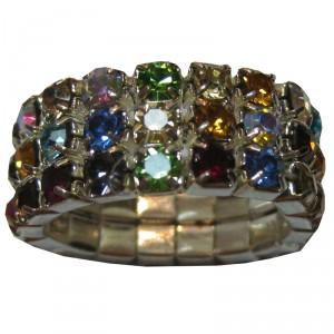 Manenring Elastiek Crystal Diverse