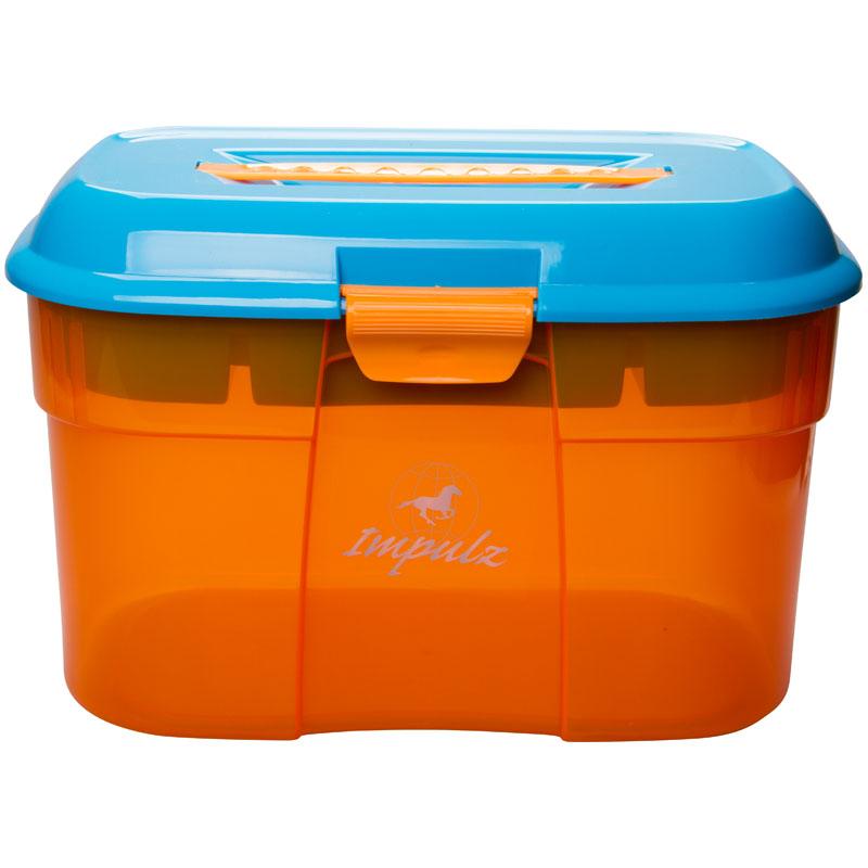 Poetskoffer Impulz Large Orange-Turquoise