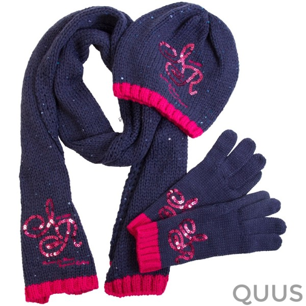 Set Muts Sjaal En Handschoenen Keep Me Warm Navy 1