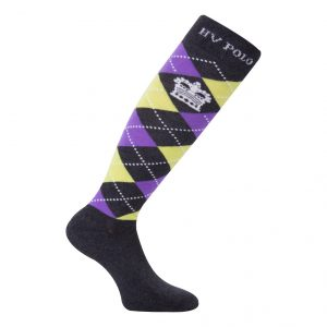 Socks Argyle Charcoal-Jacaranda