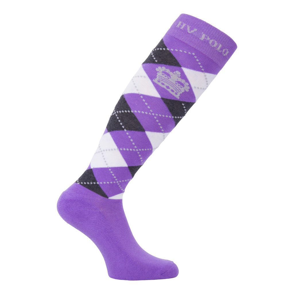 Socks Argyle Jacaranda-Charcoal