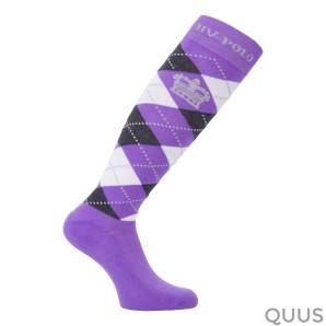 Socks Argyle Jacaranda-Charcoal