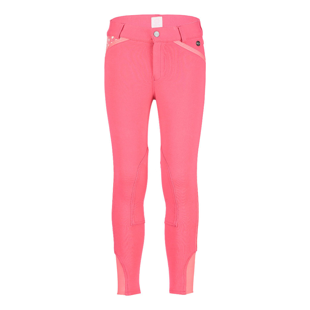 Rijbroek Star Edition Standard Selffabric Knee Patch Roze