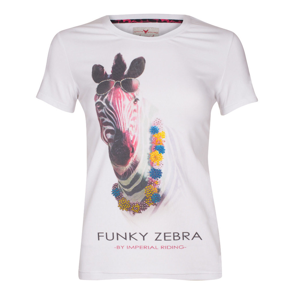 T-Shirt Crazy Zebra Wit