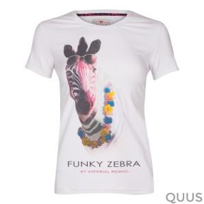T-Shirt Crazy Zebra Wit