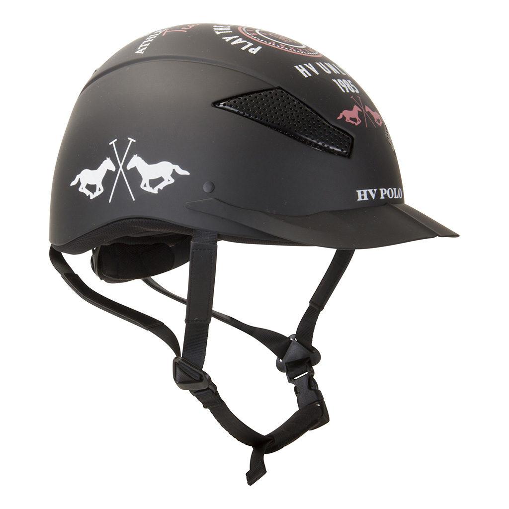 riding helmet mclennan black hv polo