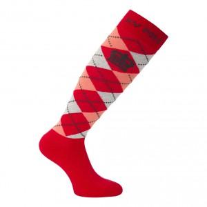 hv polo sokken socks_argyle_long_bright_red_rouge_si_31-34_1