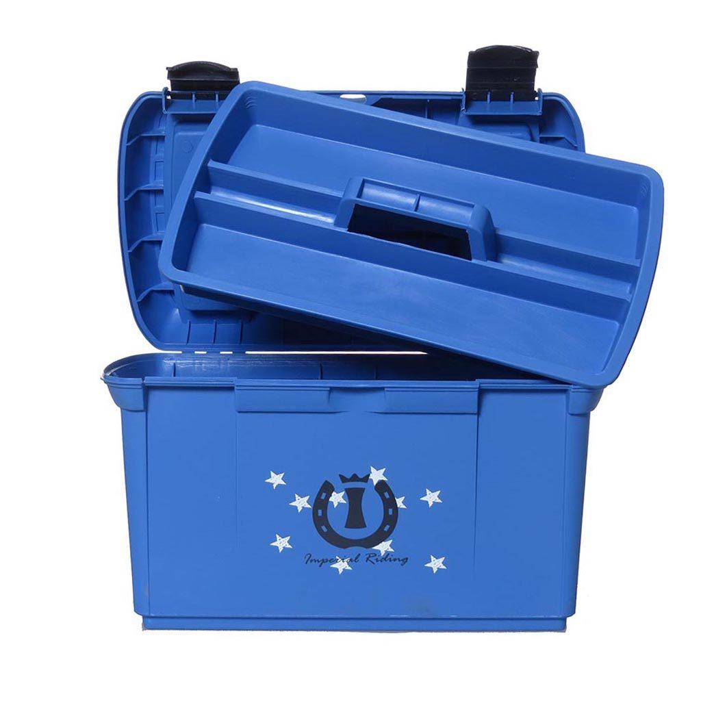ir poetskoffer flower blauw open met bak - kopie