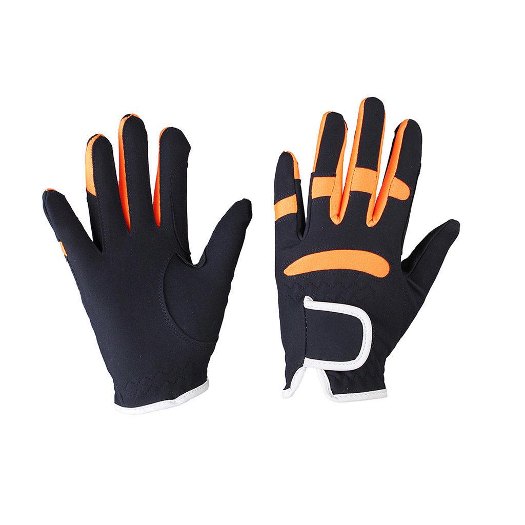 qhp handschoen oranje-blauw7006dbor
