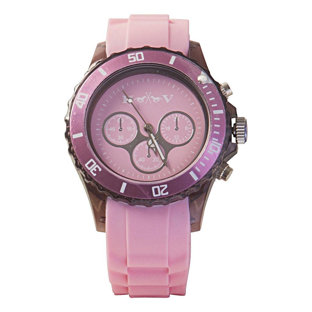 3401092603 hv polo horloge transparant pink