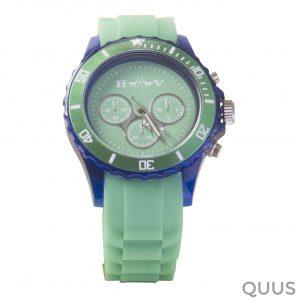 3401092603 hv polo horloge transparant pistache
