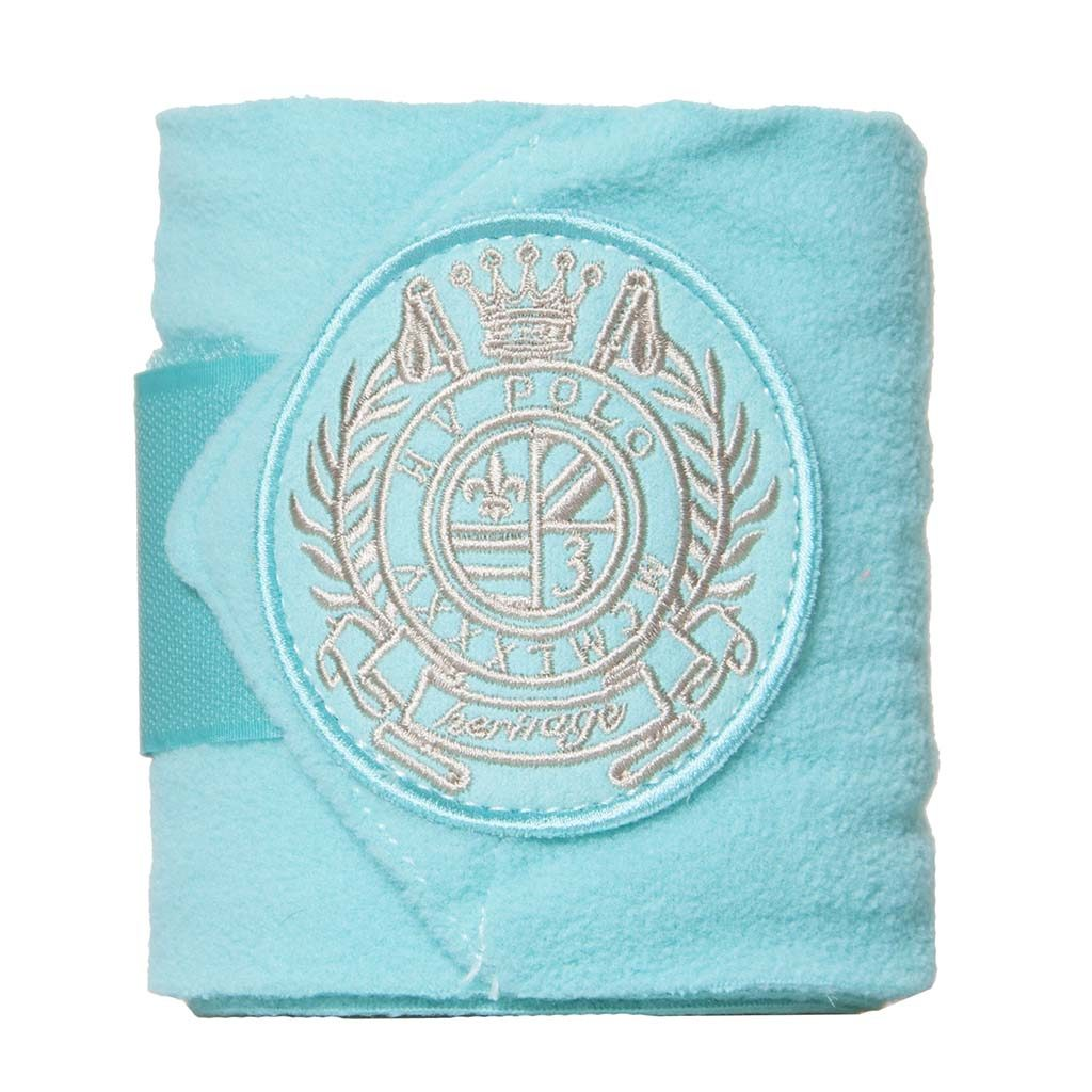 hv polo bandages fleece aqua