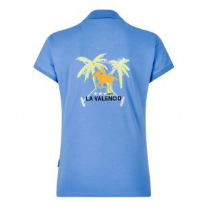 Polo Jaque Blauw La Valencio Achterkant Lava-181.1151Bl