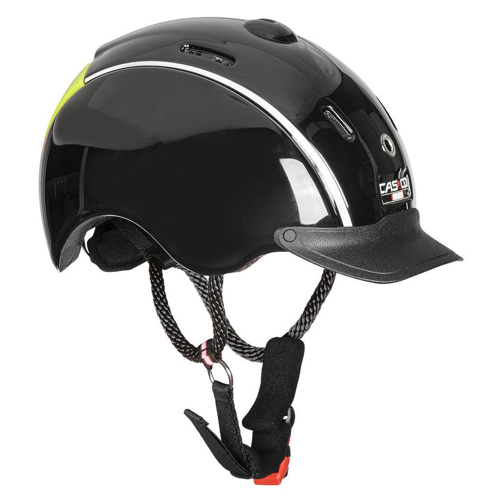 casco-nori-zwart-neon-vooraanzicht