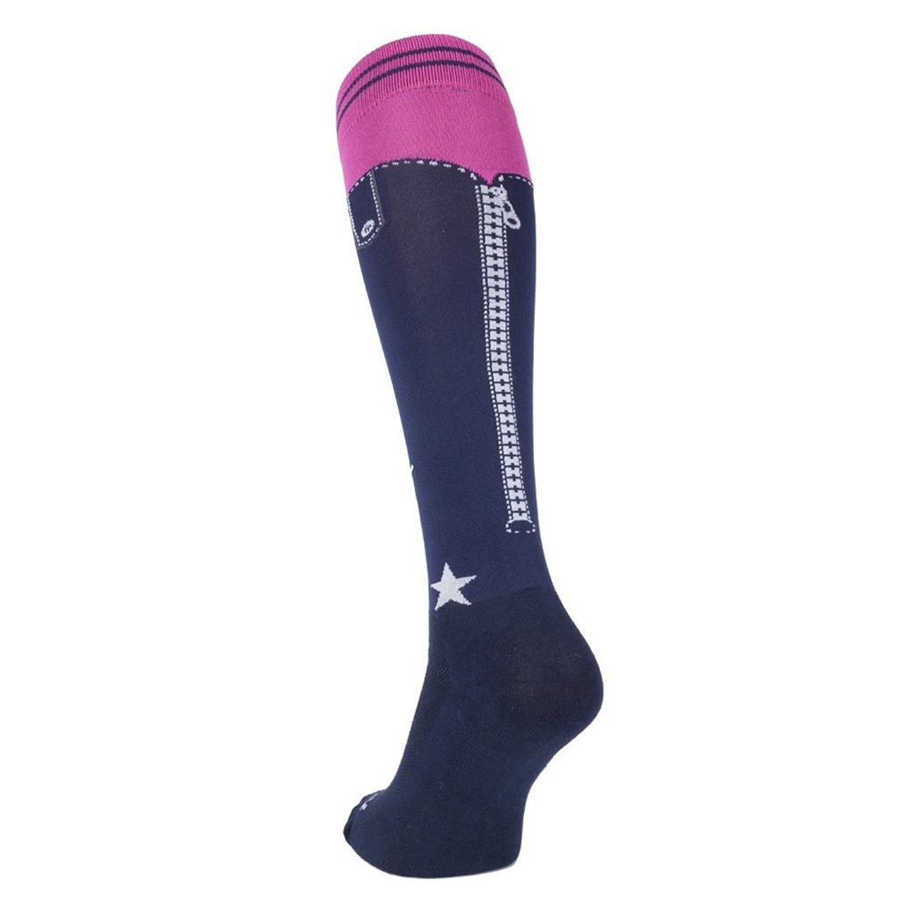 fair play sokken chaps navy roze