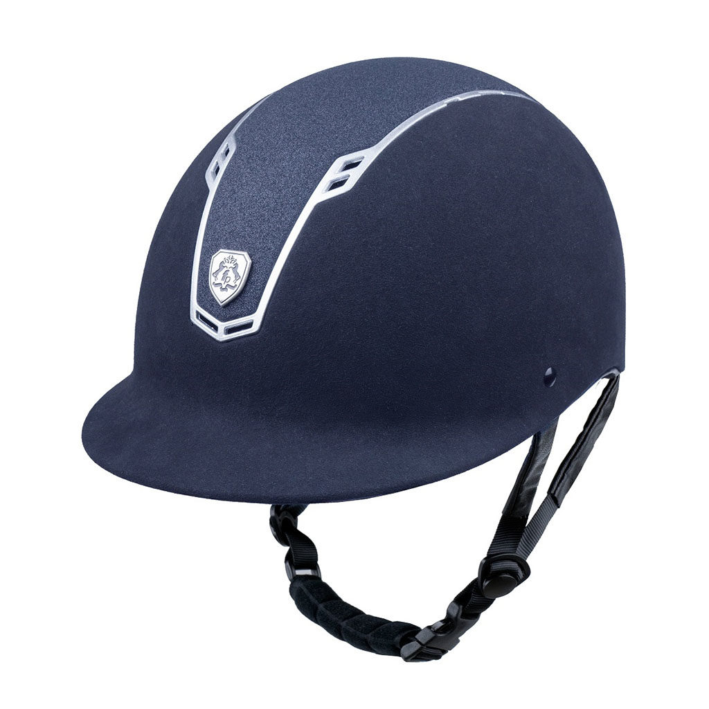 fairplay paardrijcap stardust navy zilver
